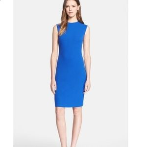 Lk NEW VINCE blue dress w/zipper back size medium